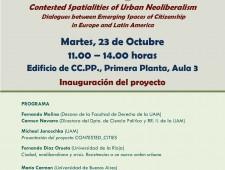 Martes, 23 de Octubre UAM. Inauguración del proyecto