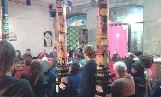 """Debate sobre """"Urbanismo y ciudad"""" celebrado el 9 de enero en el marco de las jornadas """"Defiende el Patio, construye Madrid""""."""