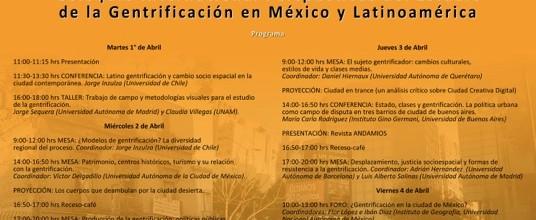Coloquio Perspectivas del Estudio de la Gentrificación en México y Latinoamérica