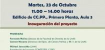 Inauguración del proyecto CONTESTED_CITIES