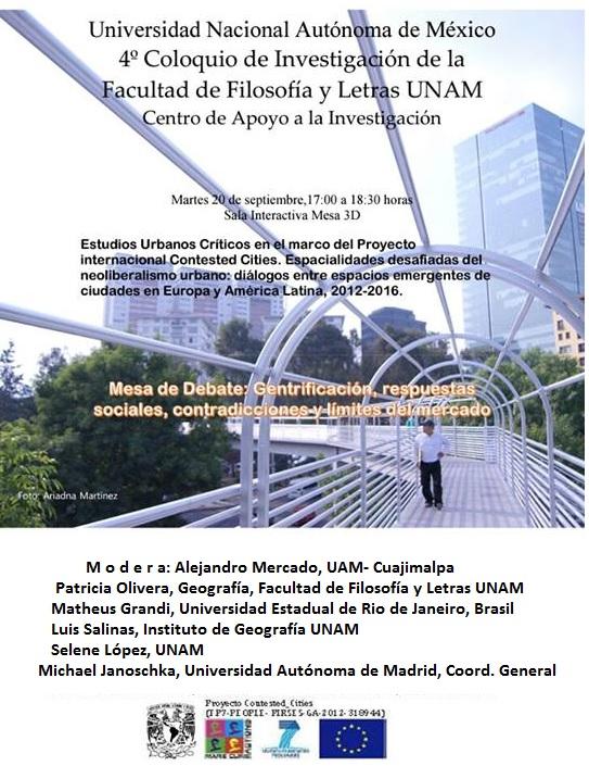 [CIUDAD DE MÉXICO] Mesa Debate: gentrificación, respuestas sociales, contradicciones y límites del mercado
